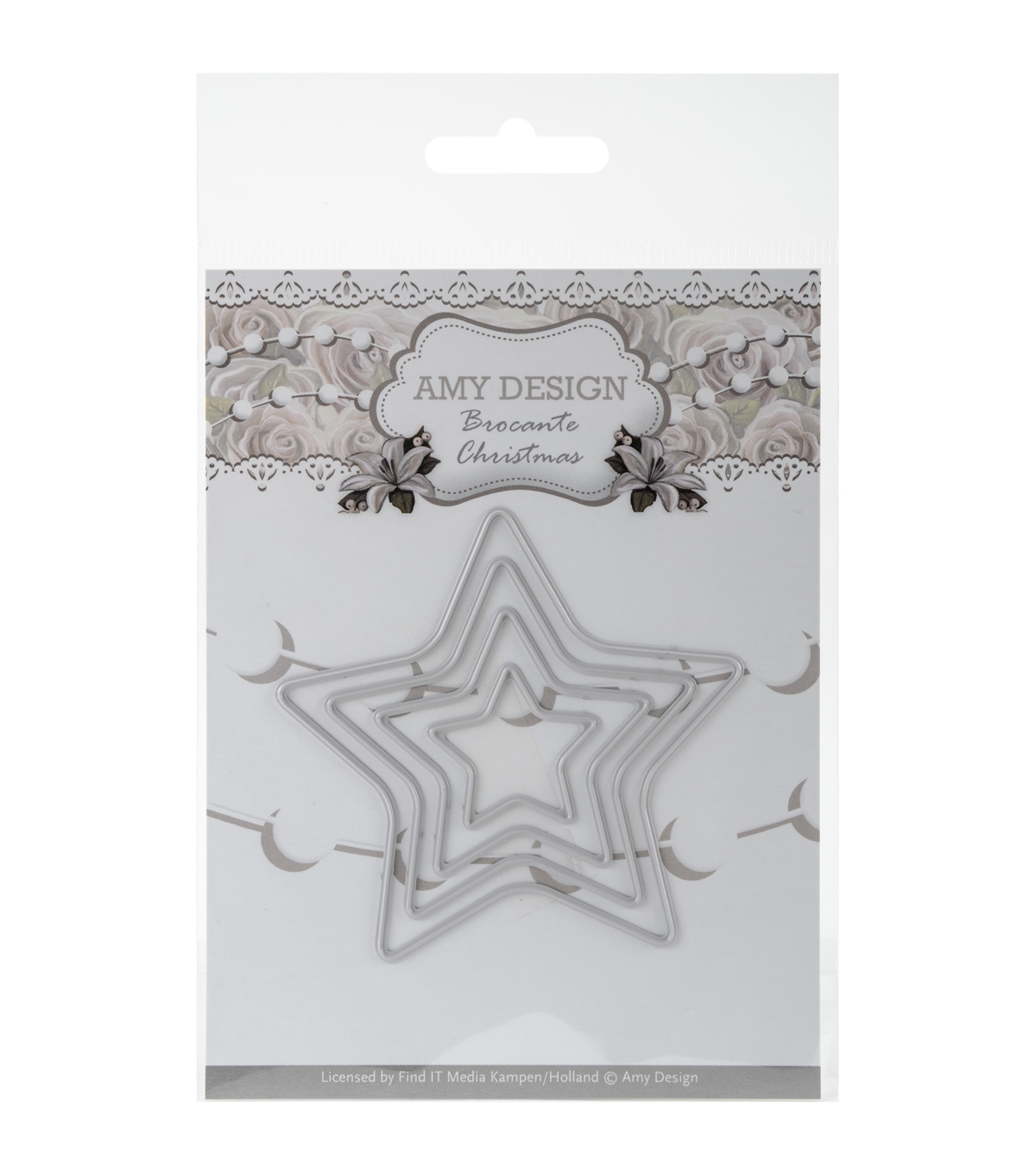 Amy Design Brocante Christmas Die-Mini Star Frames