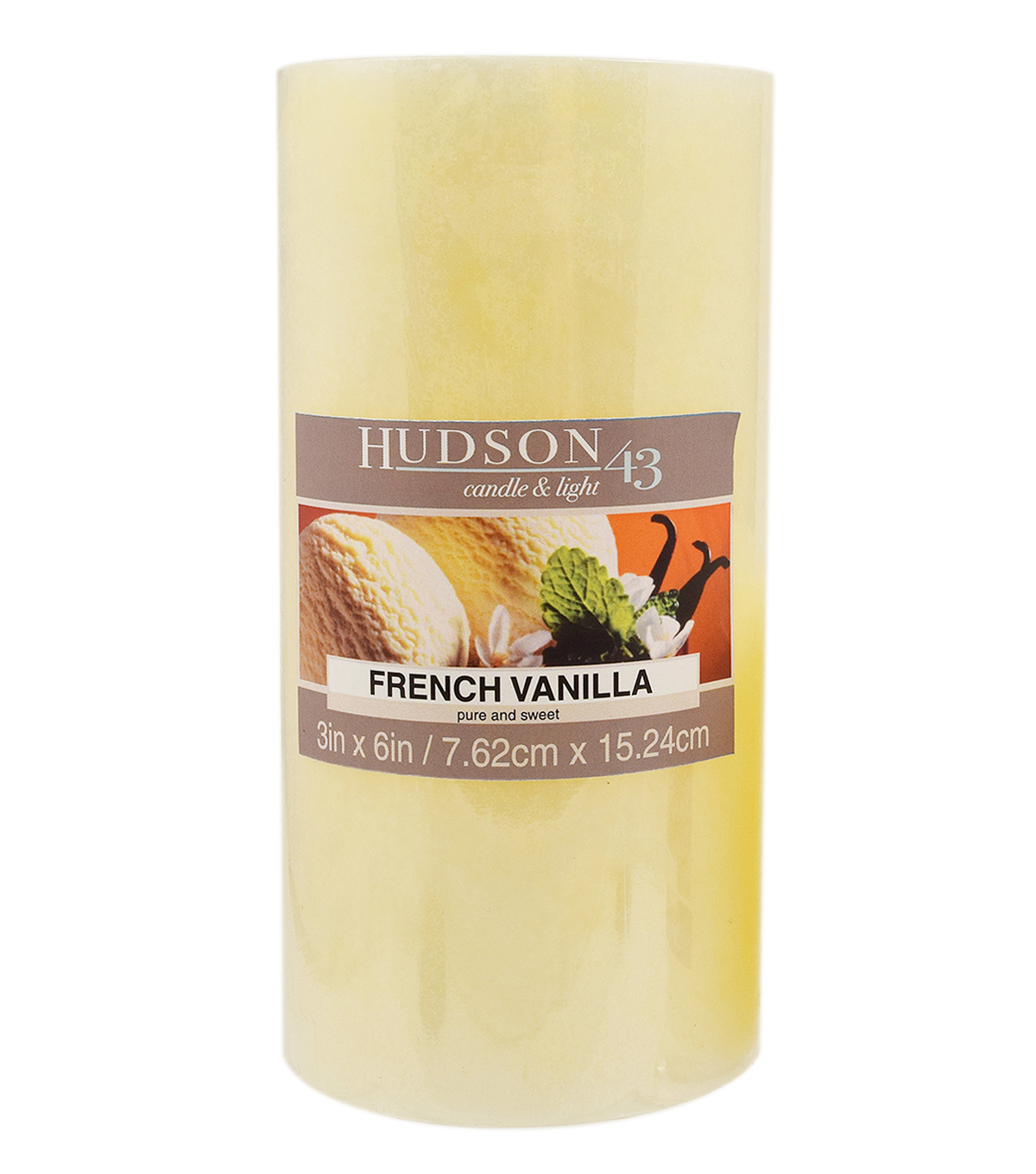 Hudson 43™ Candle & Light Collection 3X6 Pillar French Vanilla