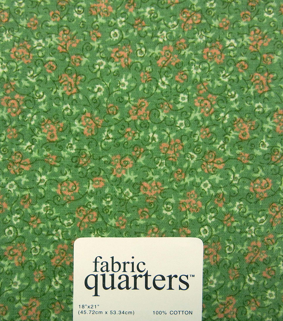 "Fabric Quarters Cotton Fabric 18""-Assorted Green"