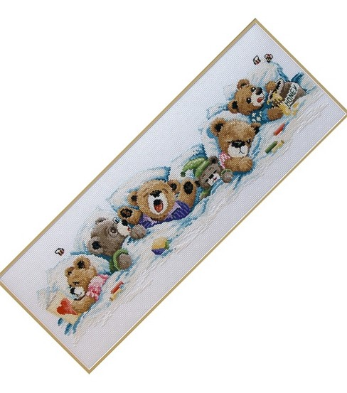 Janlynn Sleepy Bears Cntd X-Stitch Kit