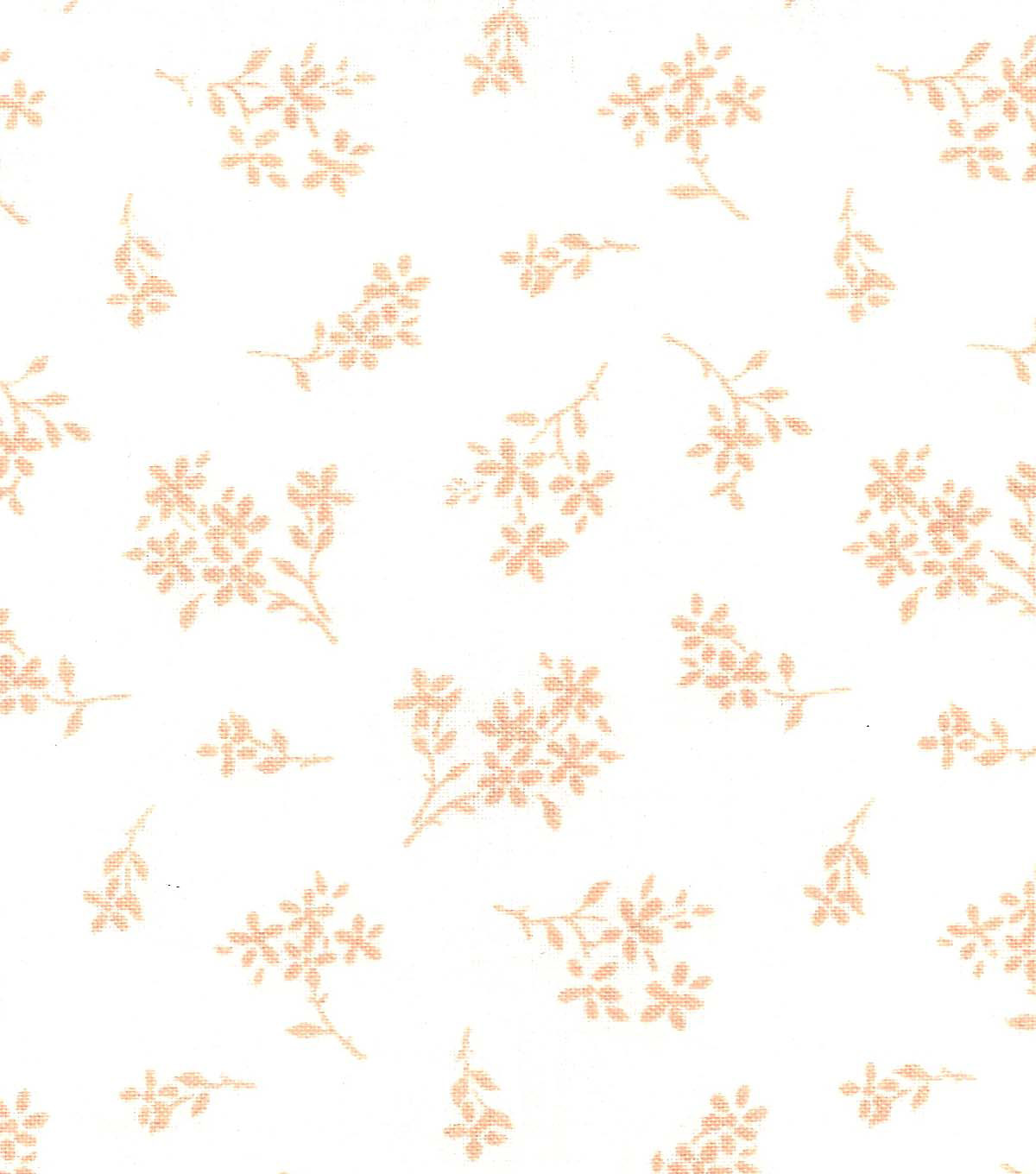 Quilter\u0027s Showcase™ Cotton Fabric 44\u0022-Peach Nectar Tossed Ditsy Floral