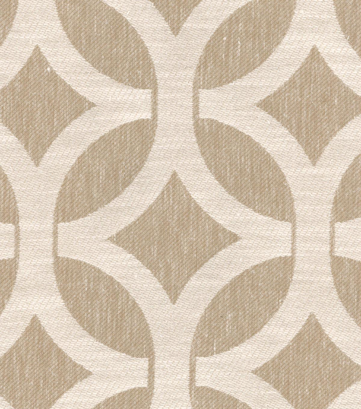 Home Decor 8\u0022x8\u0022 Swatch Fabric-Waverly Ludlow Lattice Stone