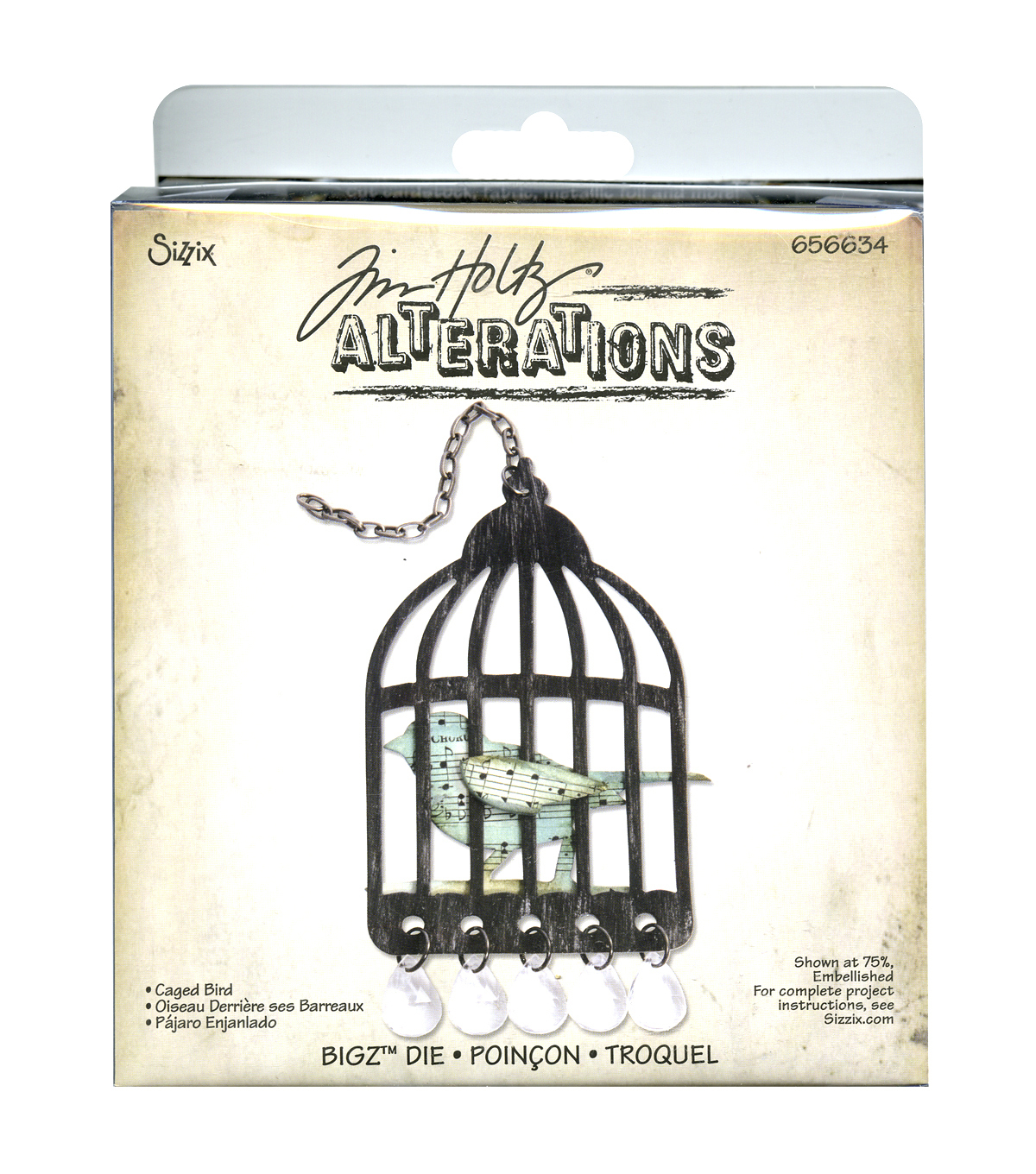Sizzix Bigz Die Caged Bird