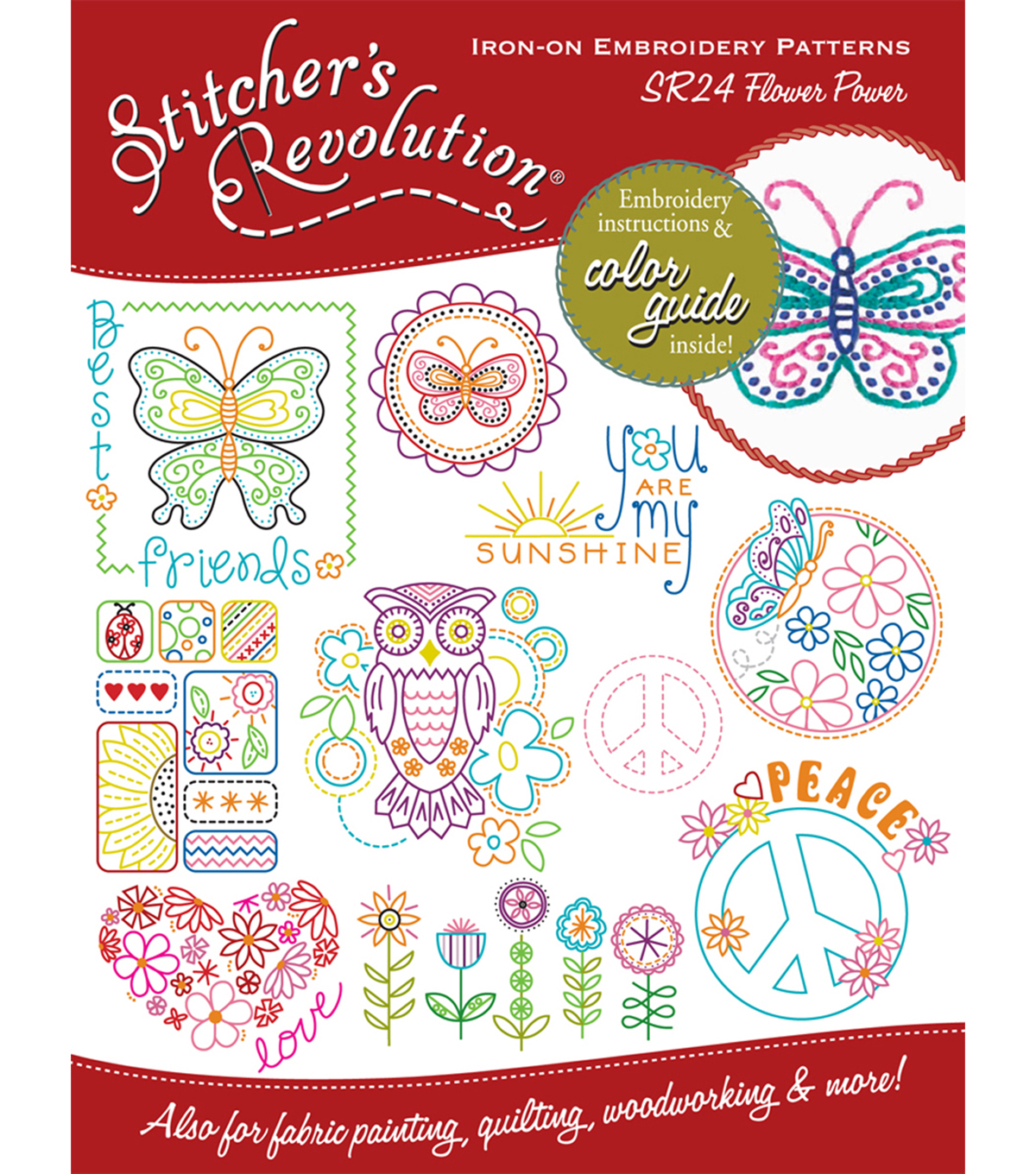 Stitcher\u0027s Revolution Iron-On Transfers-Flower Power