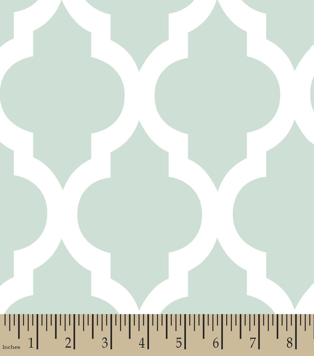 Mint Geometric Print Fabric