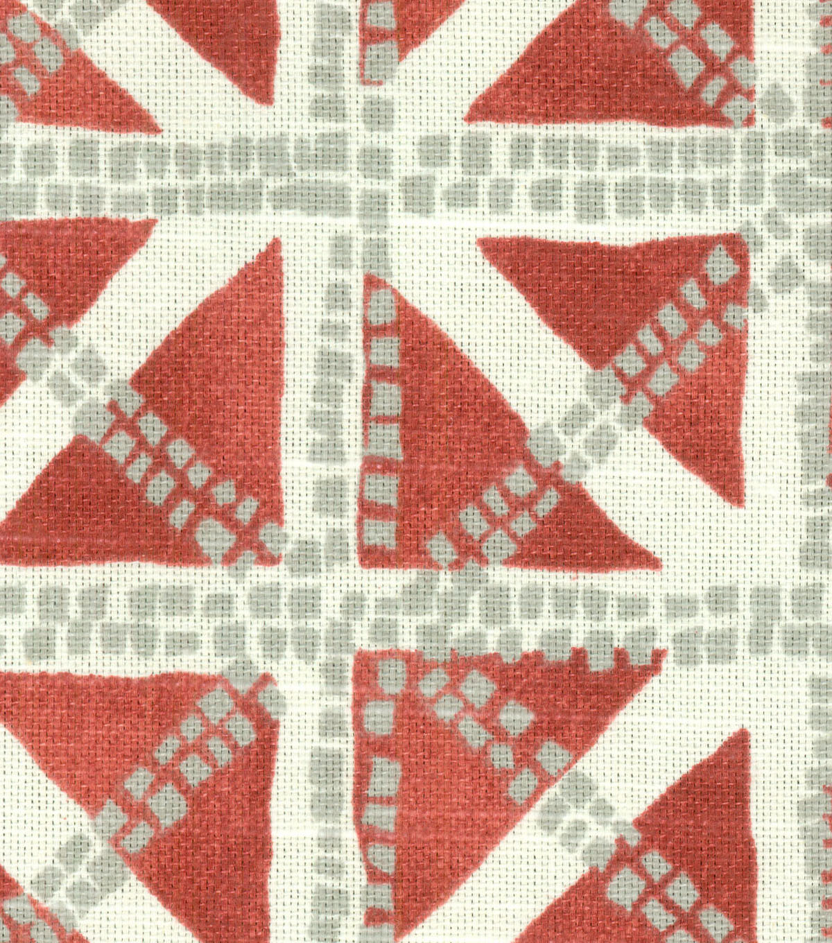 Waverly Upholstery Fabric 54\u0022-Squared Away Coral