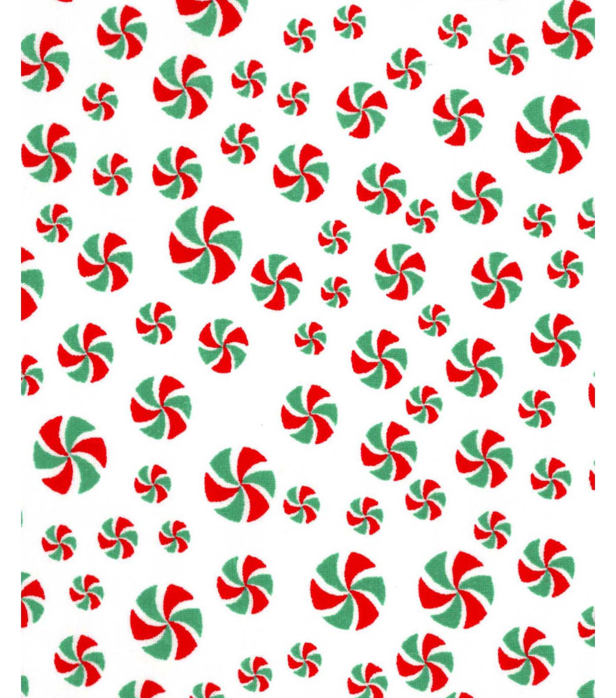 Holiday Showcase™ Christmas Cotton Fabric 43\u0027\u0027-Peppermints on White