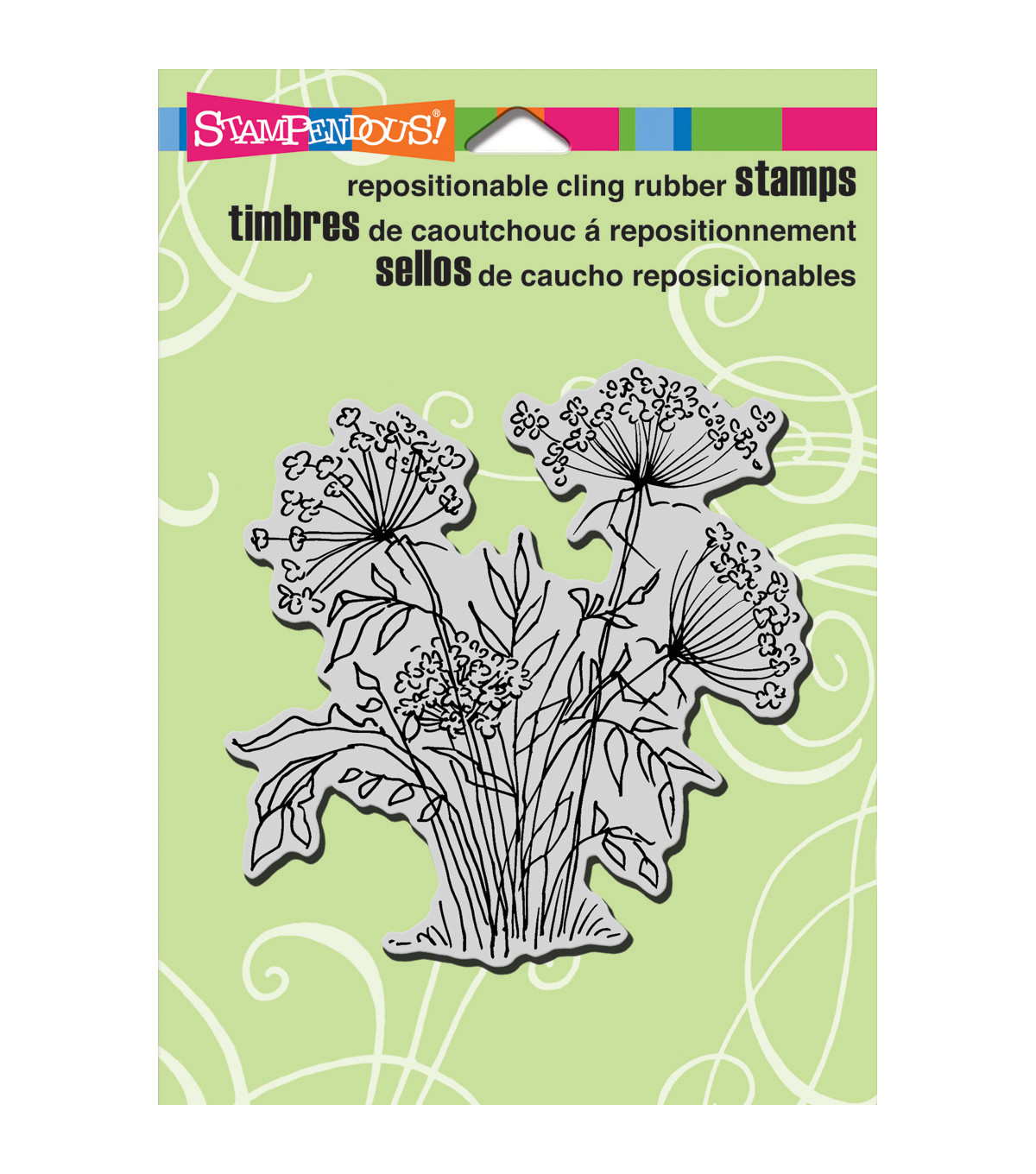 Stampendous Cling Stamp-Queen Annes Lace