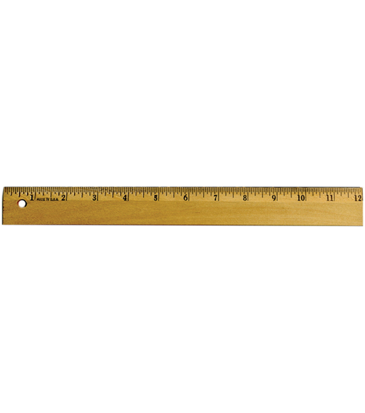 C-Thru Ruler Wood Metal Edge Ruler 12\u0022