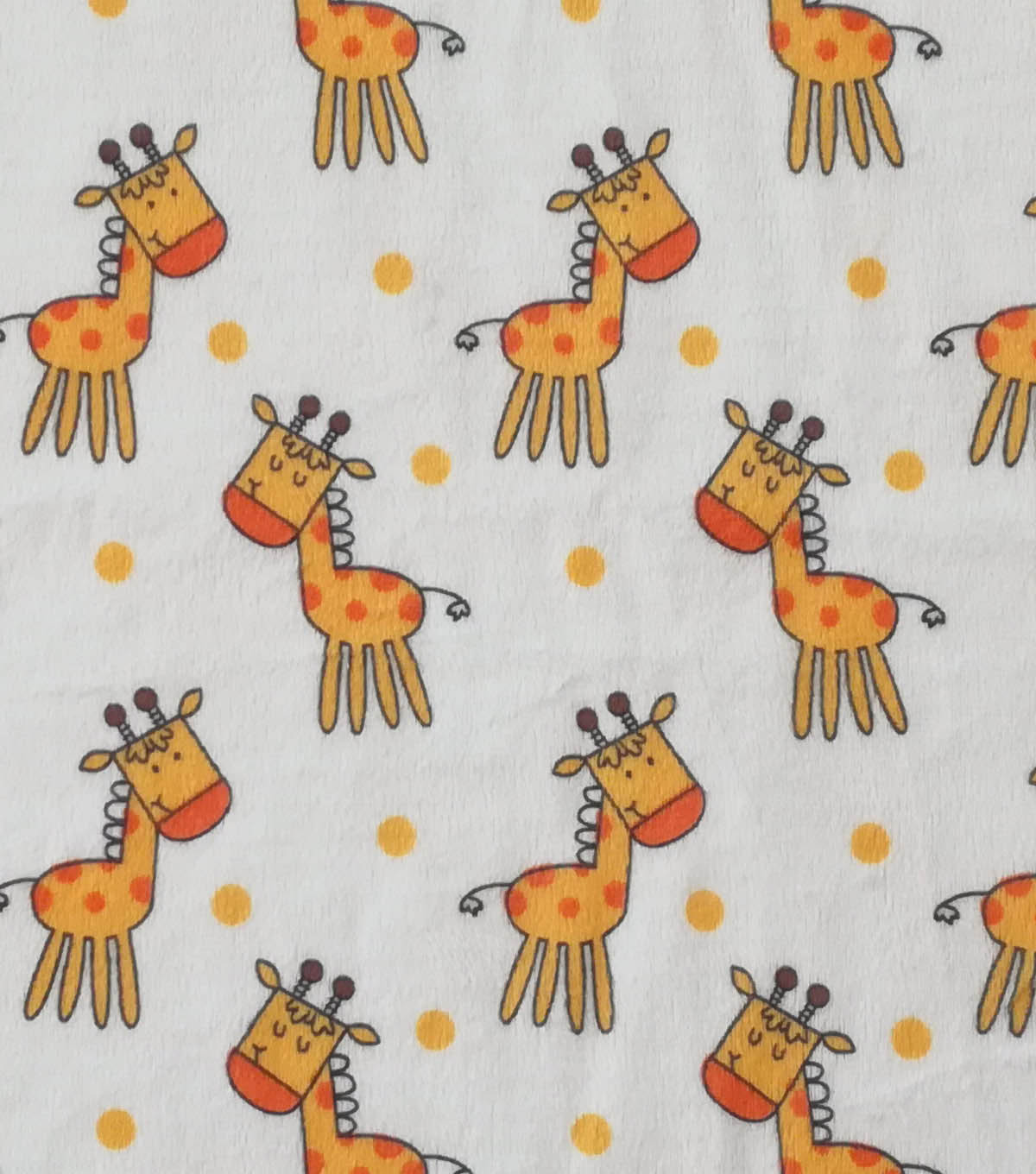 Soft & Comfy Fleece Fabric 57\u0022-Baby Giraffe