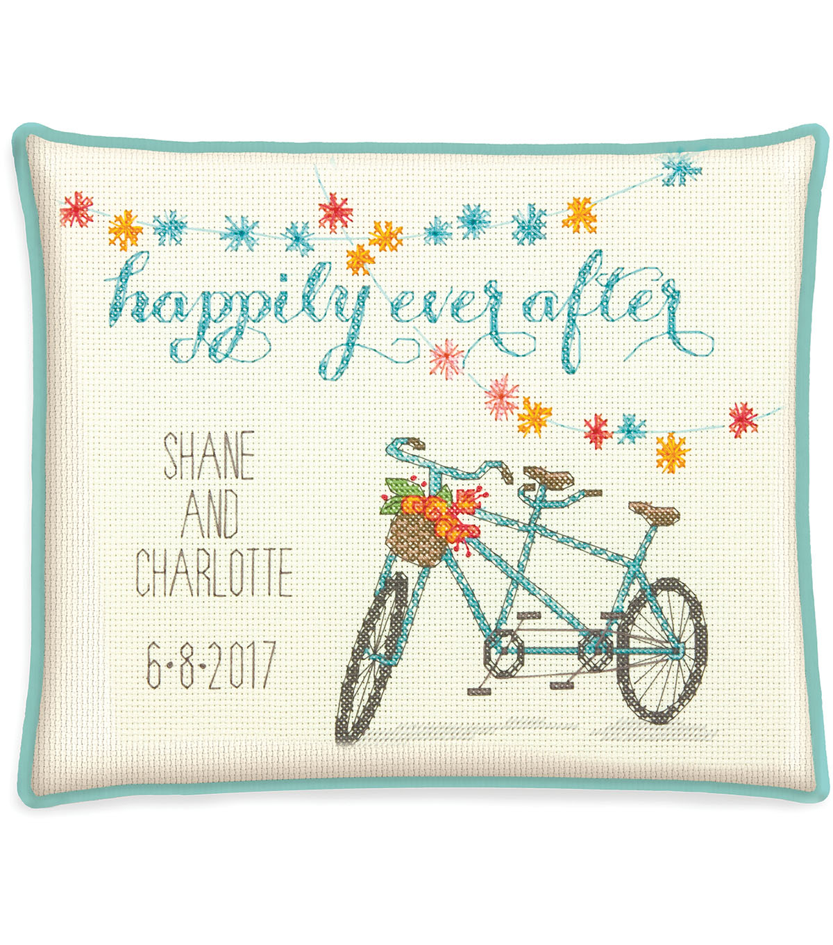 Cathy Heck Happily Ever After Counted Cross Stitch Kit-10\u0022X8\u0022 14 Count