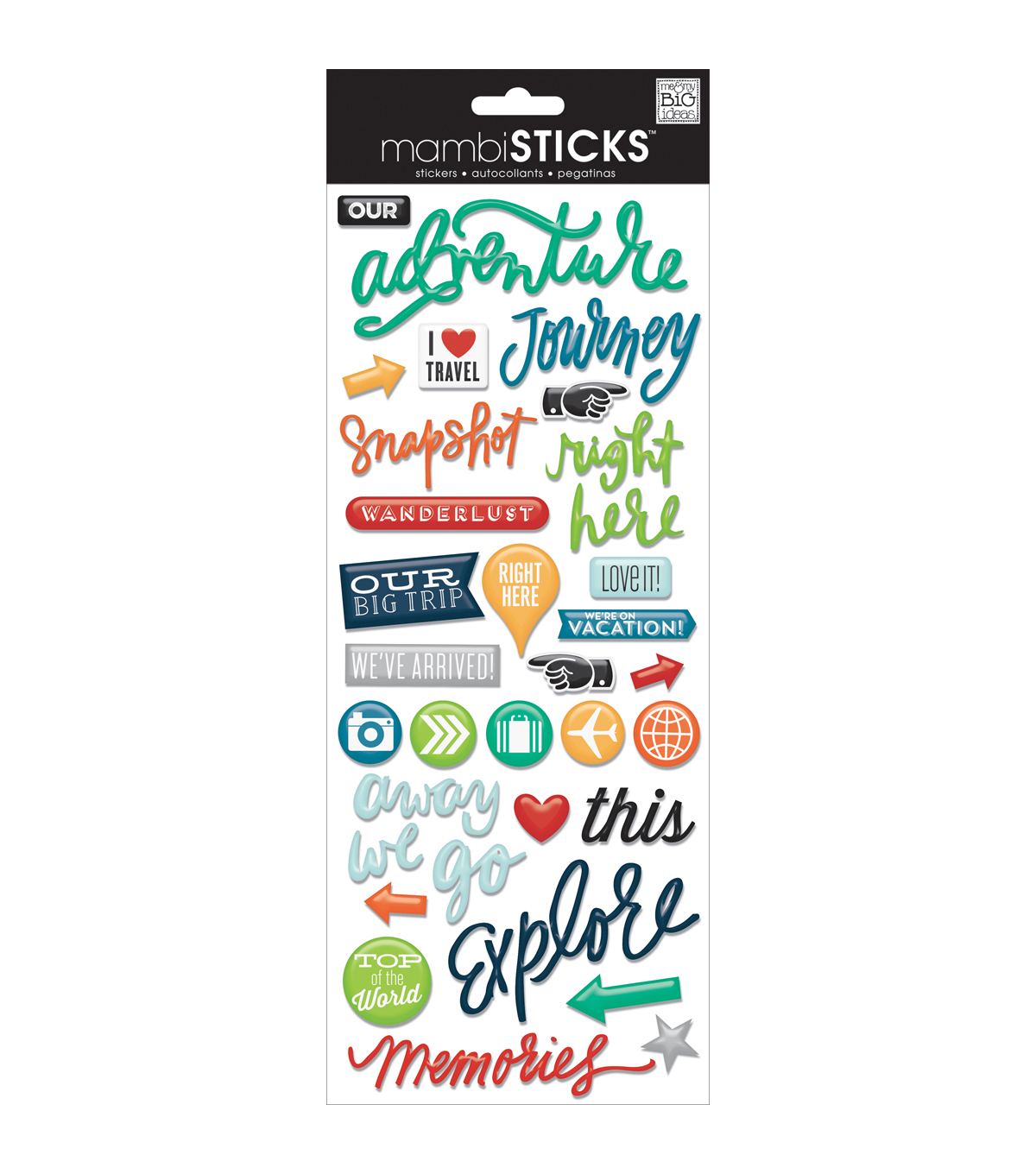 Me & My Big Ideas® Essential Stickers-Our Adventure