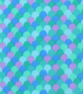 Blizzard Fleece Fabric 59\u0022-Mermaid Scales Blue