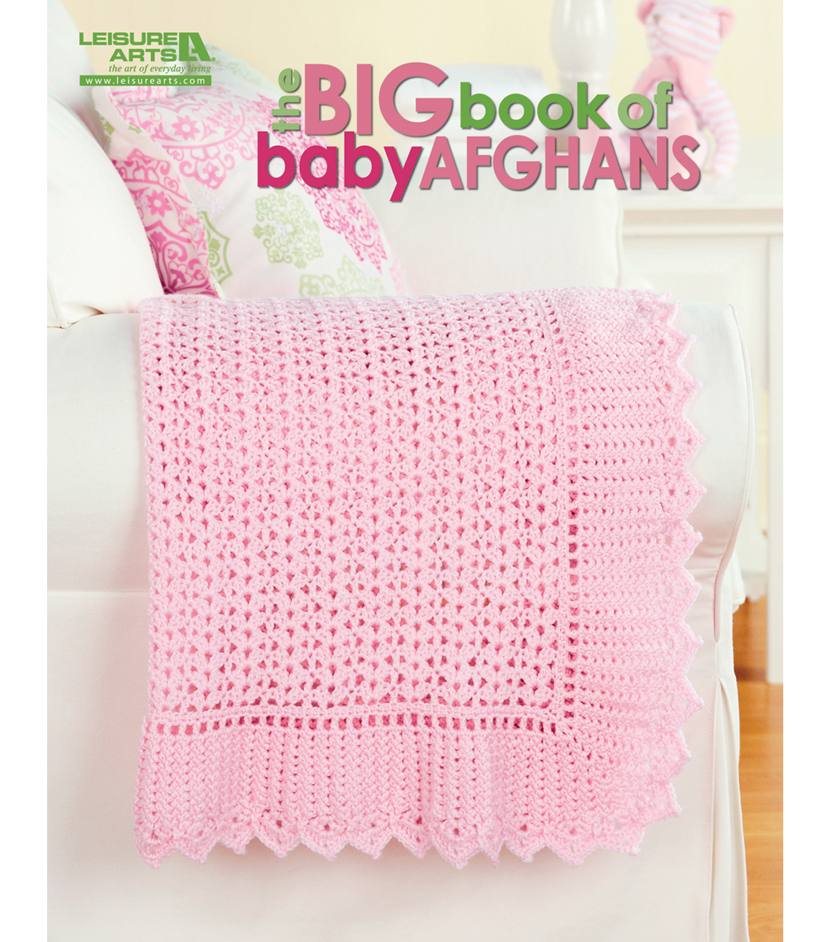 Books patterns for yarn needle art crafts joann leisure arts the big book of baby afghans bankloansurffo Image collections