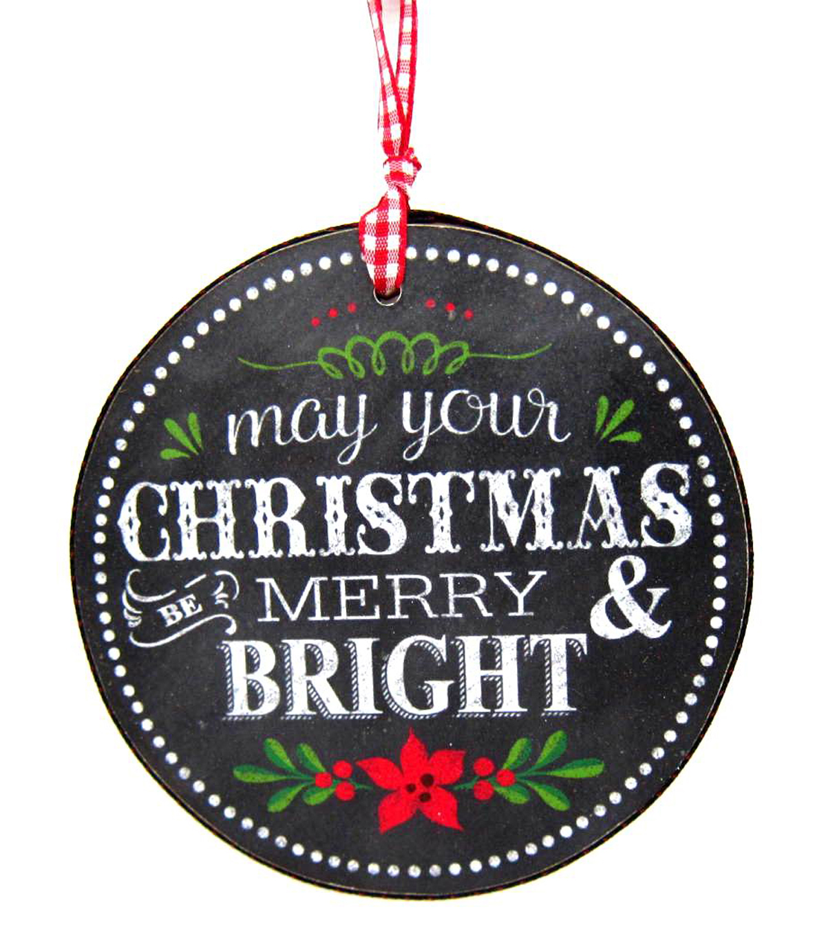Maker\u0027s Holiday Merry and Bright Chalkboard Ornament