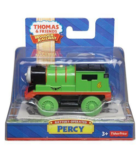 Thomas & Friends Battery Operated Wooden Railway Percy Engine