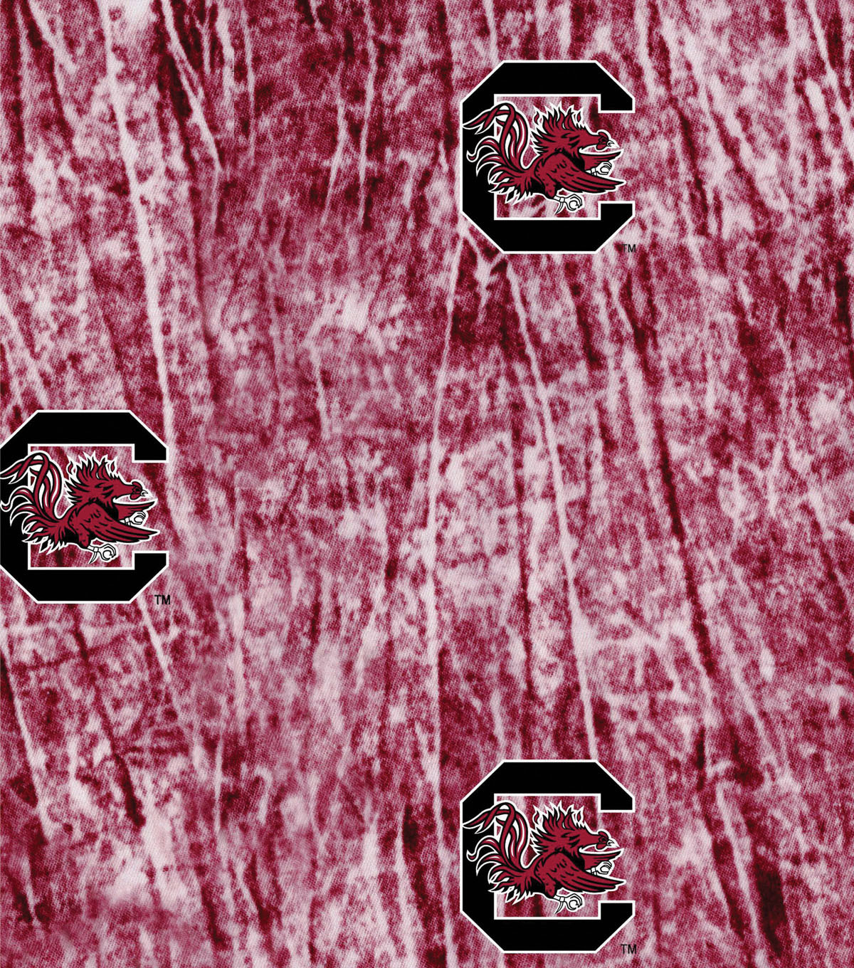 University of South Carolina Gamecocks Cotton Fabric 44\u0022-Tie Dye