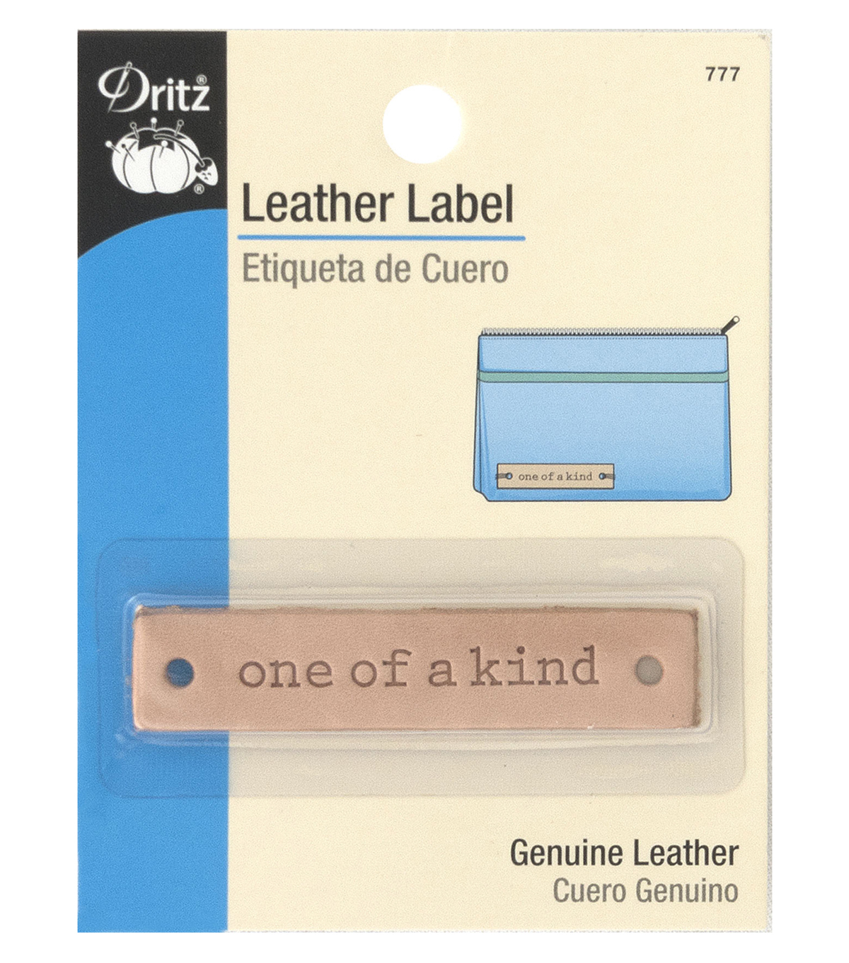 Dritz Leather Rectangle Label-one of a kind