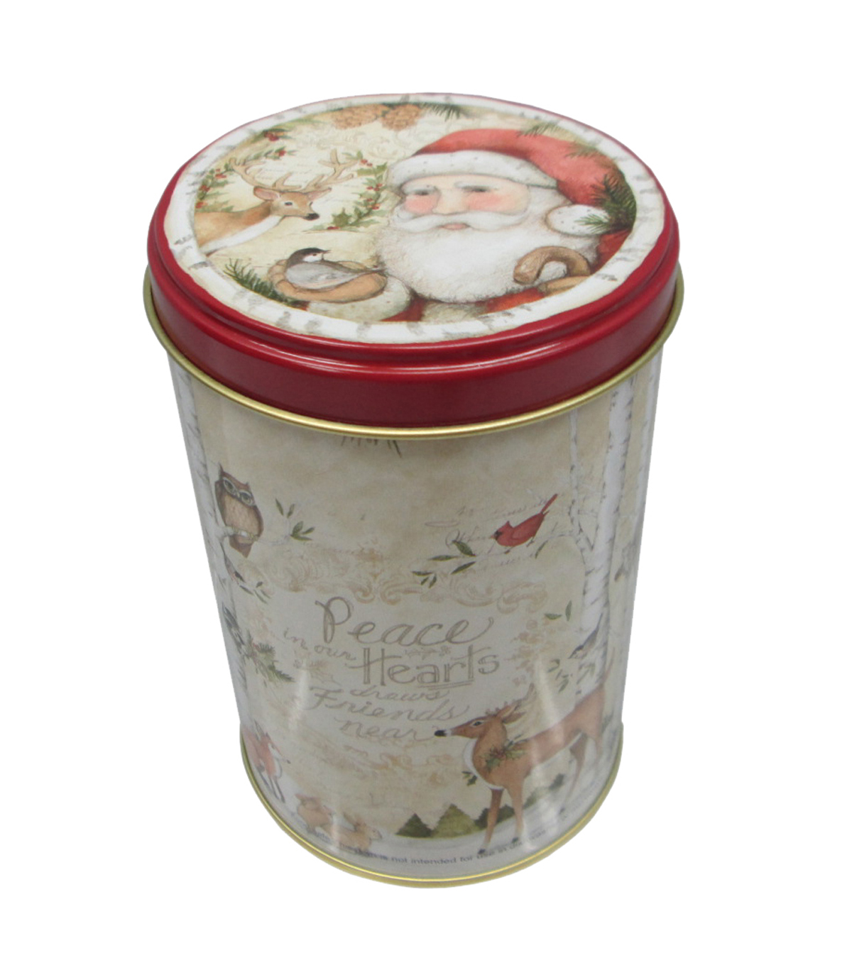 Maker\u0027s Holiday Small Tall Large Round Canister-Deer