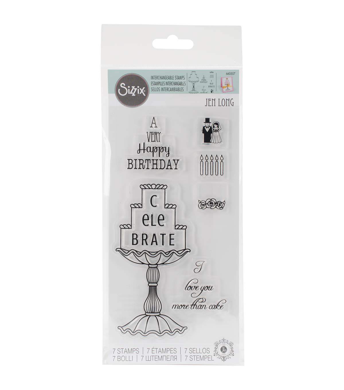 Sizzix® Interchangeable Clear Stamps-Cake Celebrations