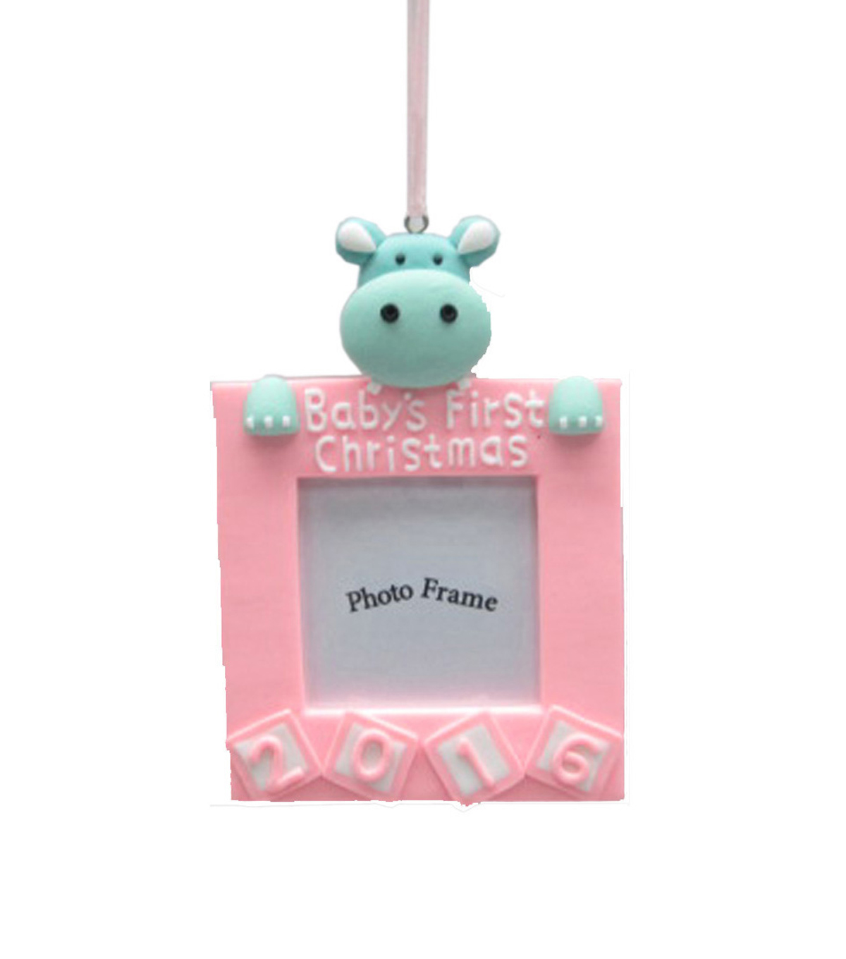 Maker\u0027s Holiday Baby Girl\u0027s First Christmas Frame Ornament