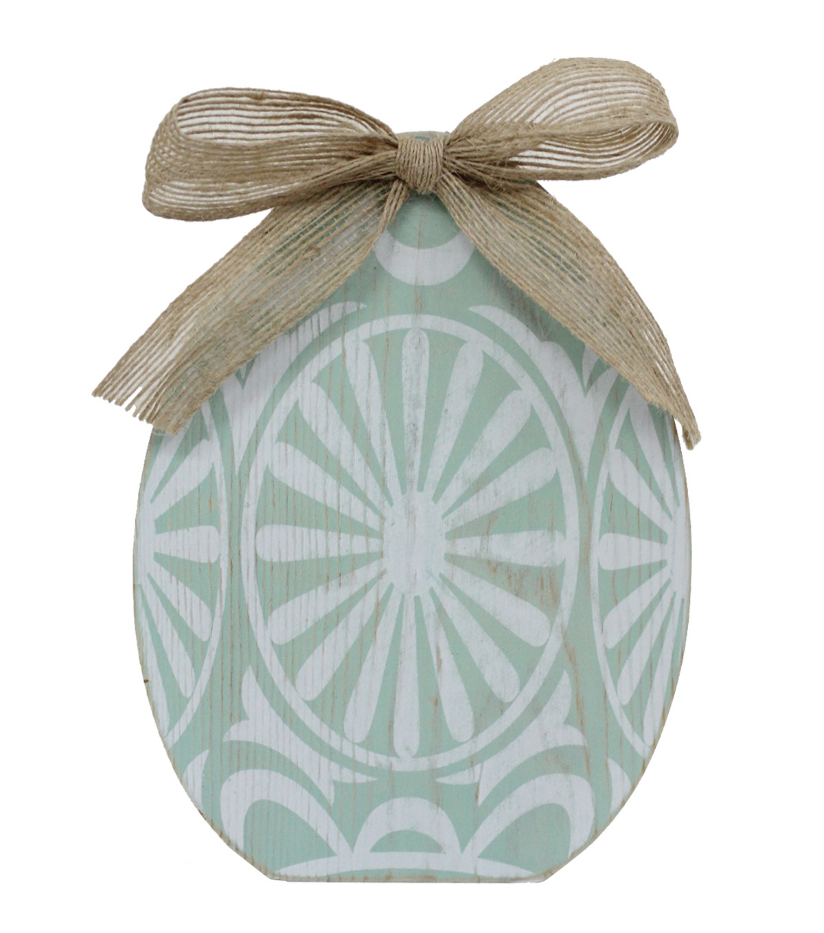 Easter Egg Silhouette Table Decor-Blue