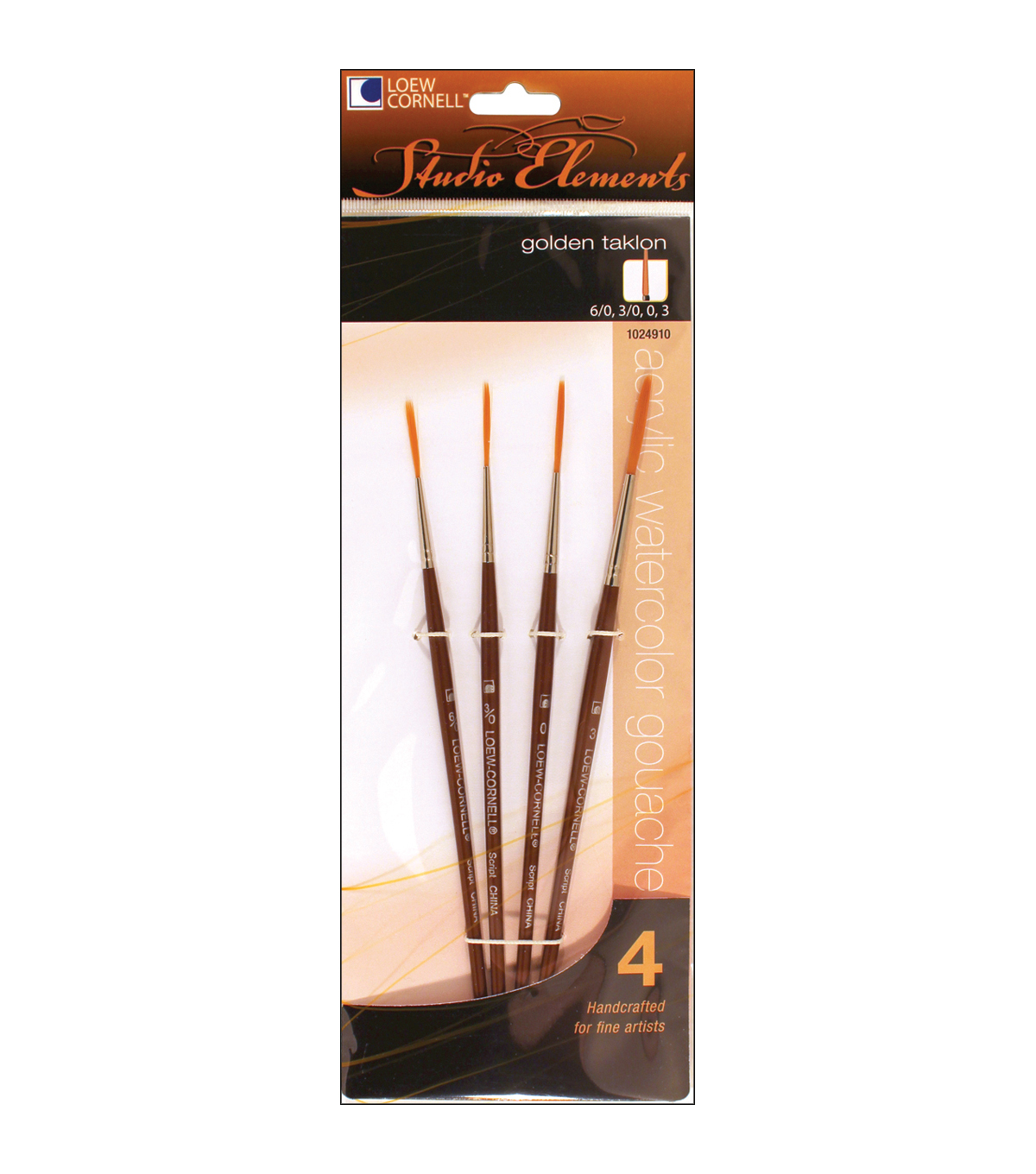 Golden Taklon Liner Set Of 4
