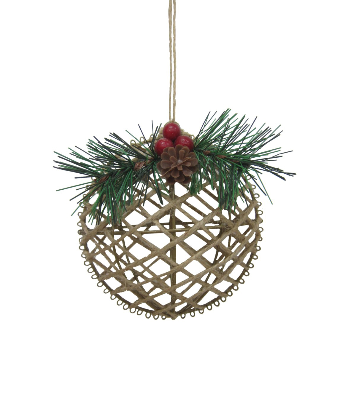 Maker's Holiday Christmas Woodland Lodge Jute Circle Ornament