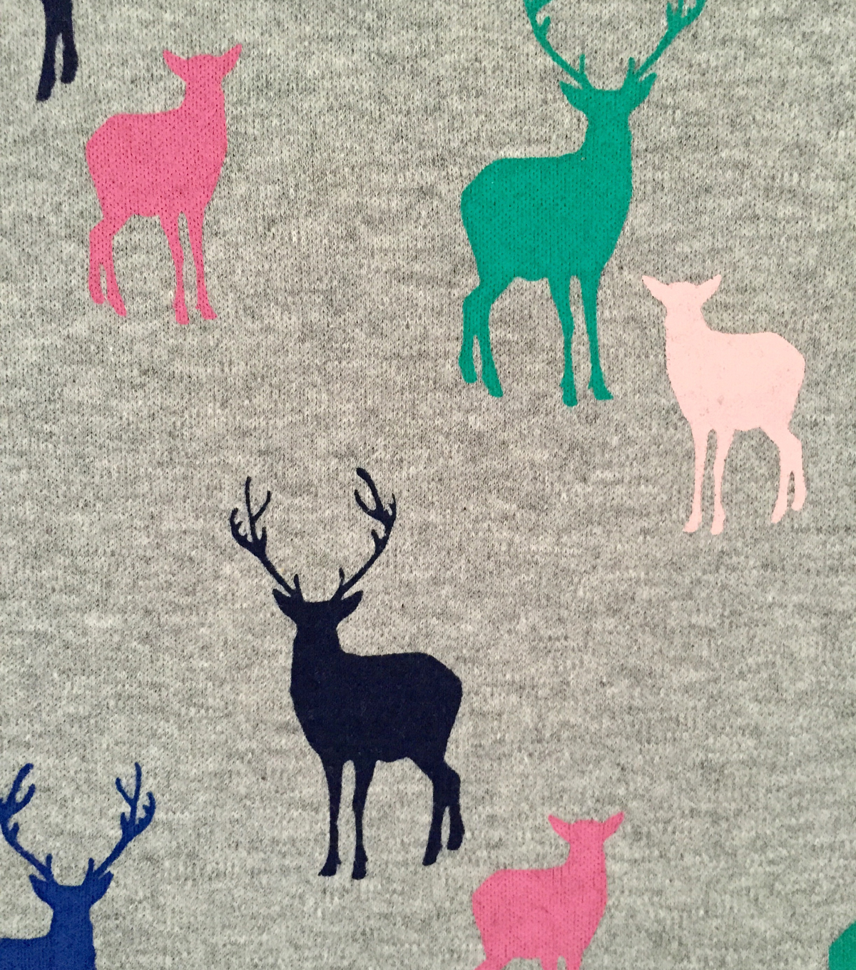 "Doodles Cotton Fabric 57""-Multi-Colored Deer"