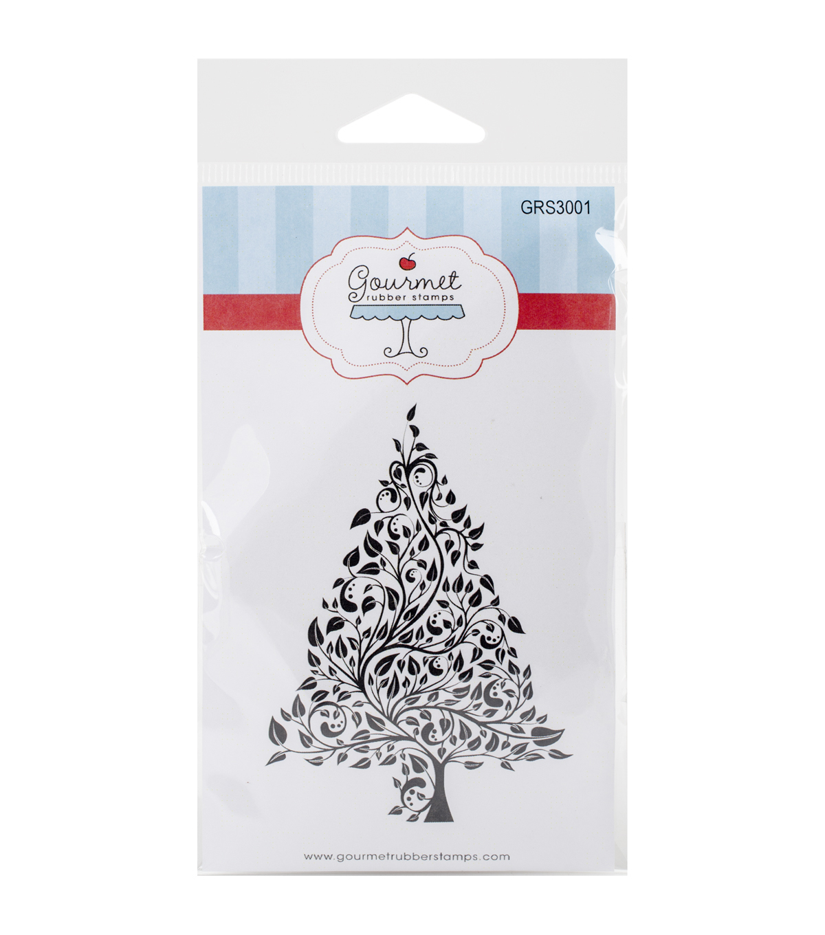 Gourmet Rubber Stamps Cling Stamps-Large Seasonal Tree