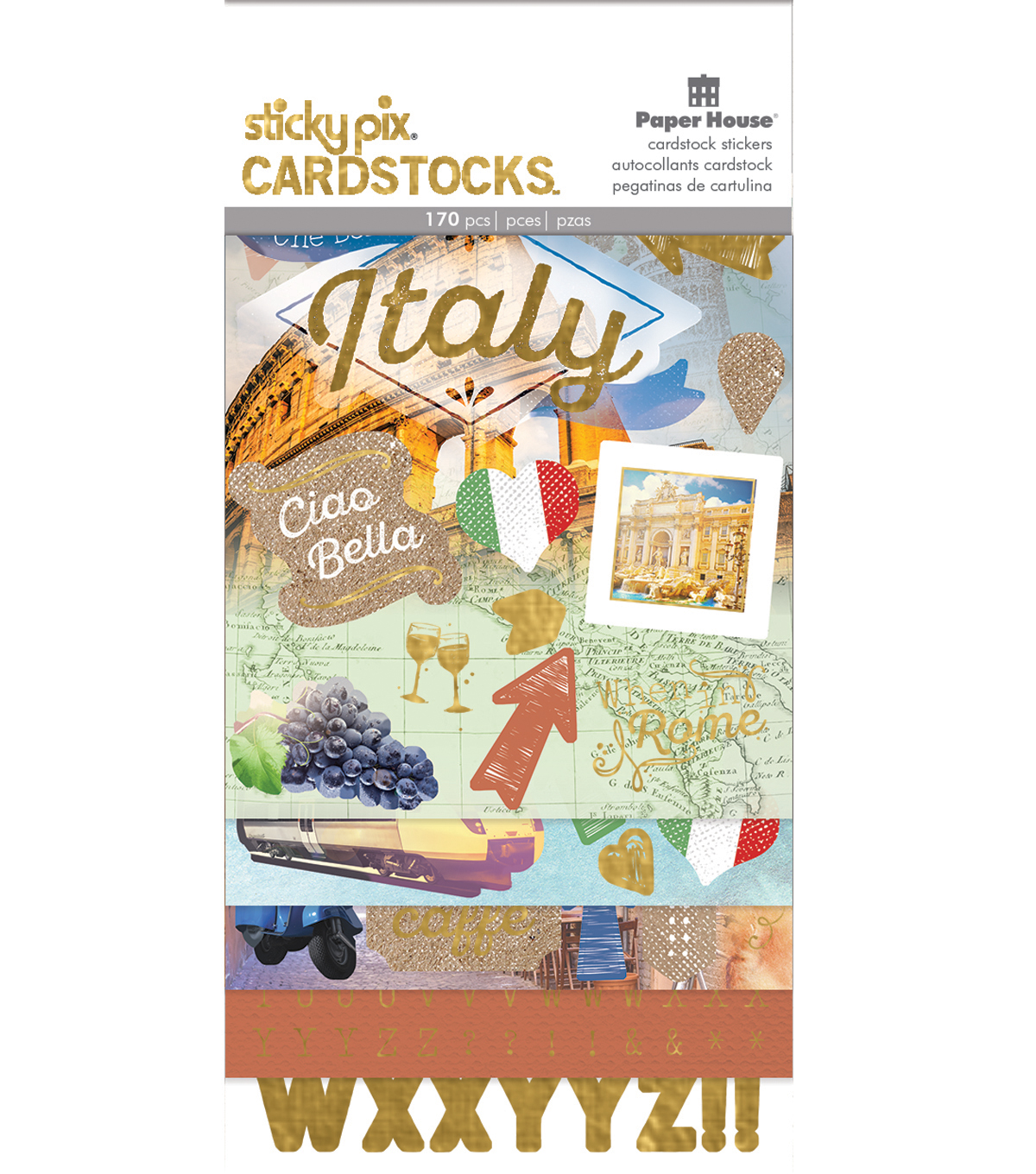Paper House® Sticky Pix Cardstock Stickers-Discover Italy