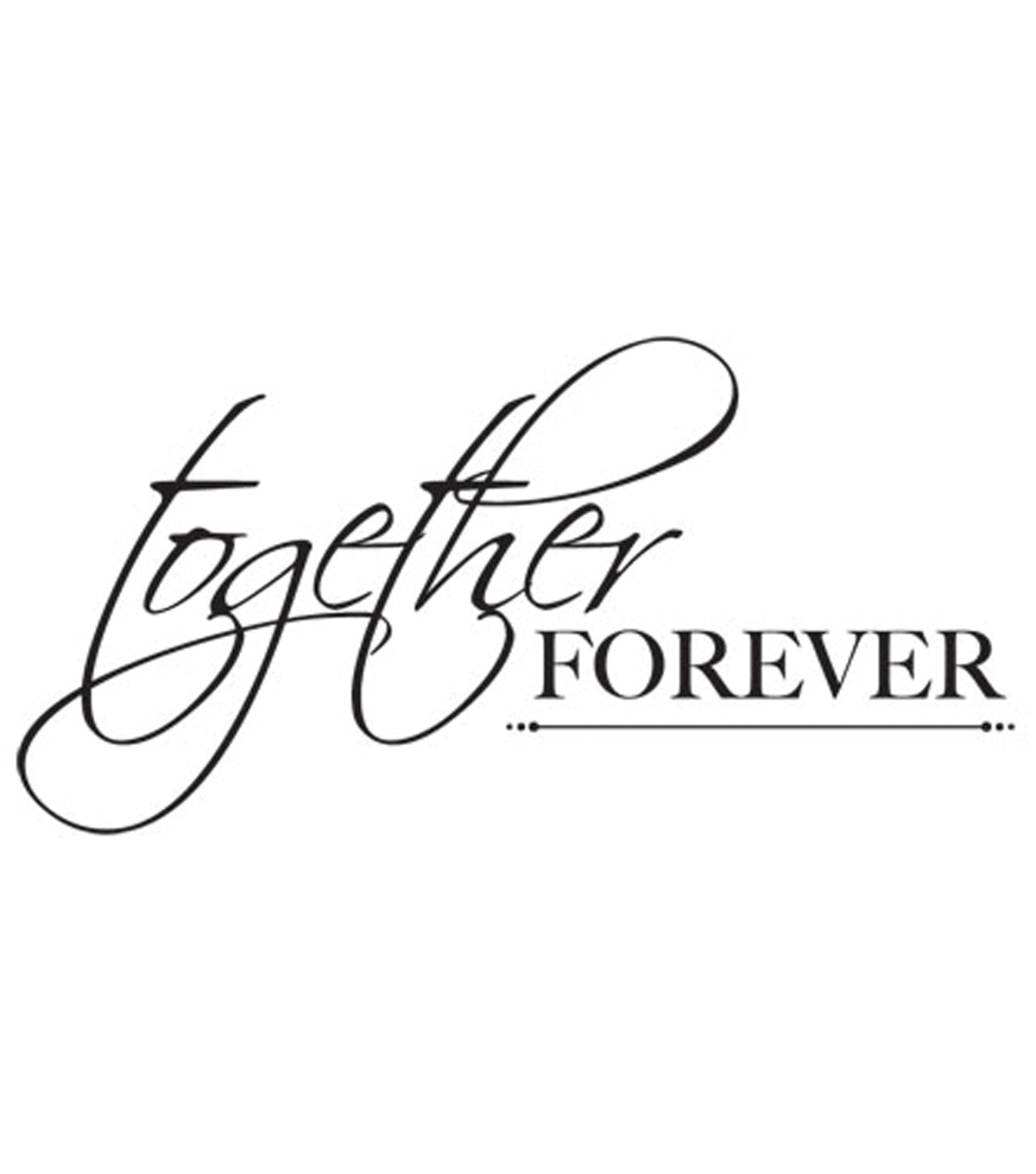 Mini Clear Stamps 3\u0022X5\u0022-Together Forever Words