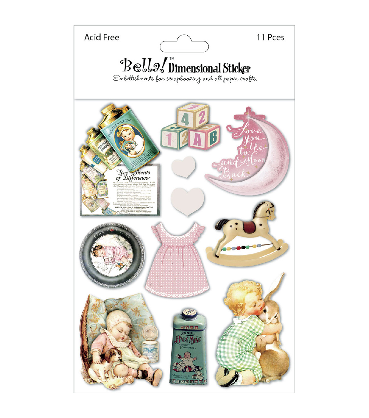 Bella! Baby Girl Dimensional Stickers