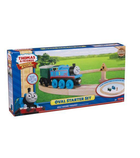 Thomas & Friends Oval Wooden Railroad Starter Kit-Thomas the Train