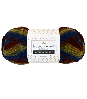 Buttercream™ Collection Rainbow Boucle Yarn