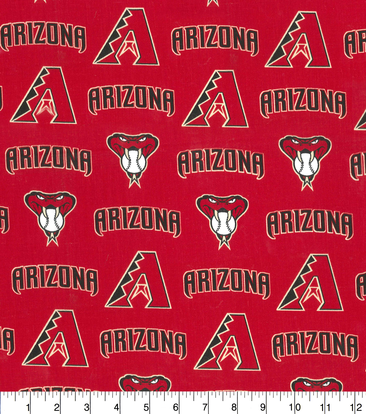 Arizona Diamondbacks Cotton Fabric 58\u0022-Logo