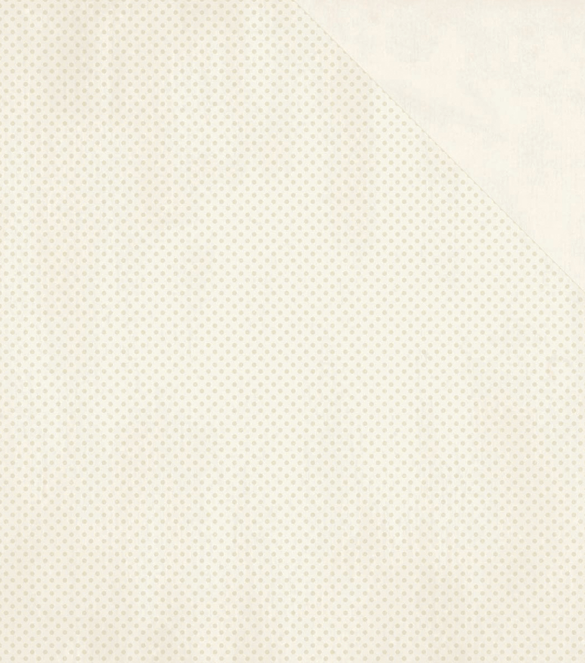 Double Dot Double-Sided Textured Cardstock 12\u0022X12\u0022-French Vanilla