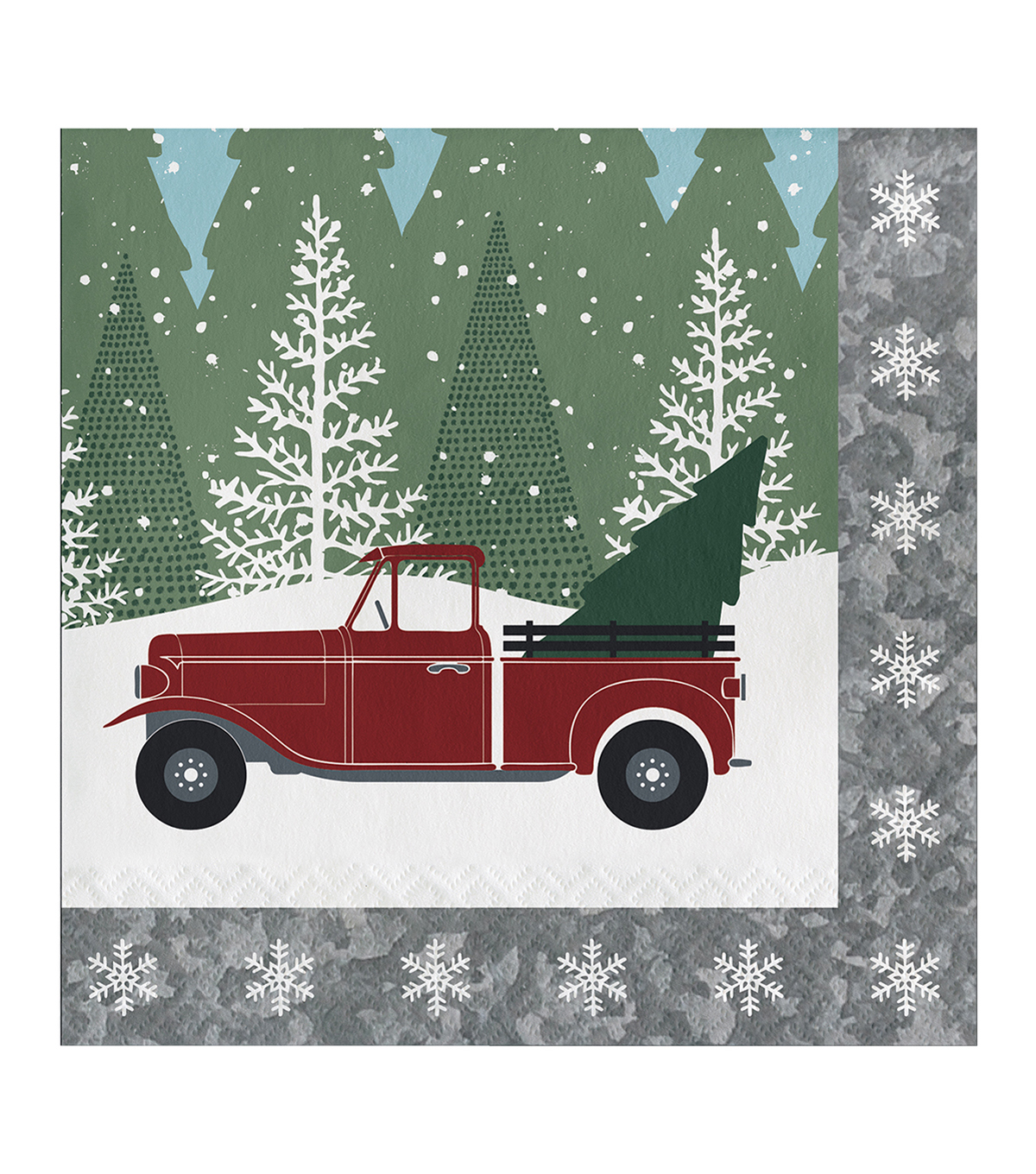 Maker\u0027s Holiday Christmas 20 pk Beverage Napkins-Winter Drive