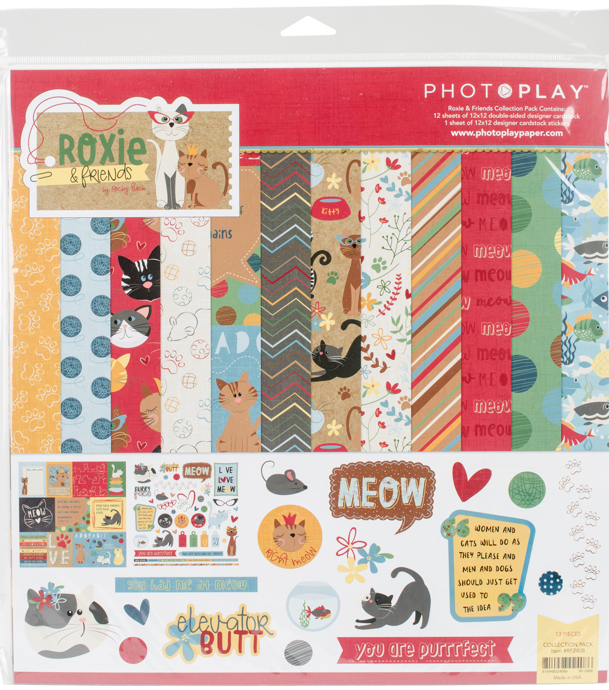 Photo Play Collection Pack 12\u0022X12\u0022-Roxie & Friends