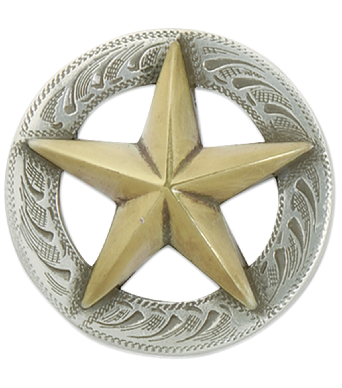 3D Texas Star Concho W/Screwback 1\u0022 1/Pkg-3D Texas Star