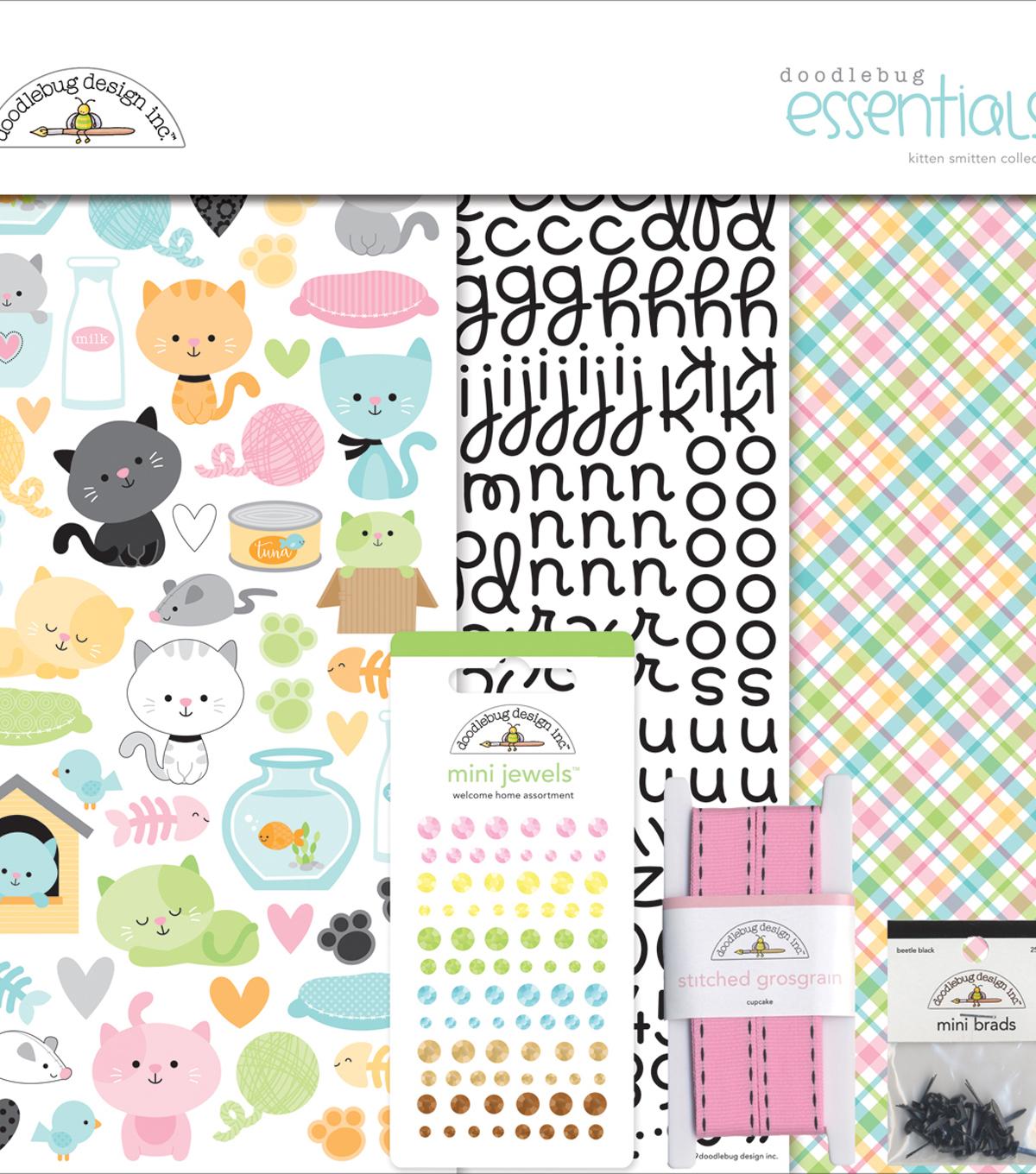 Doodlebug Essentials Page Kit 12\u0022X12\u0022-Kitten Smitten