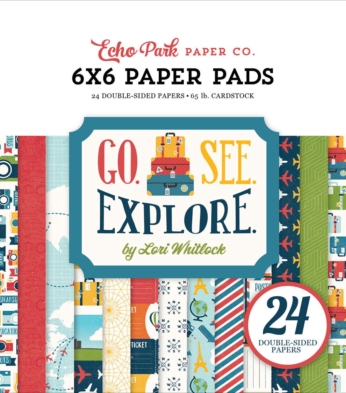 Double-Sided Paper Pad 6\u0022X6\u0022-Go, See, Explore