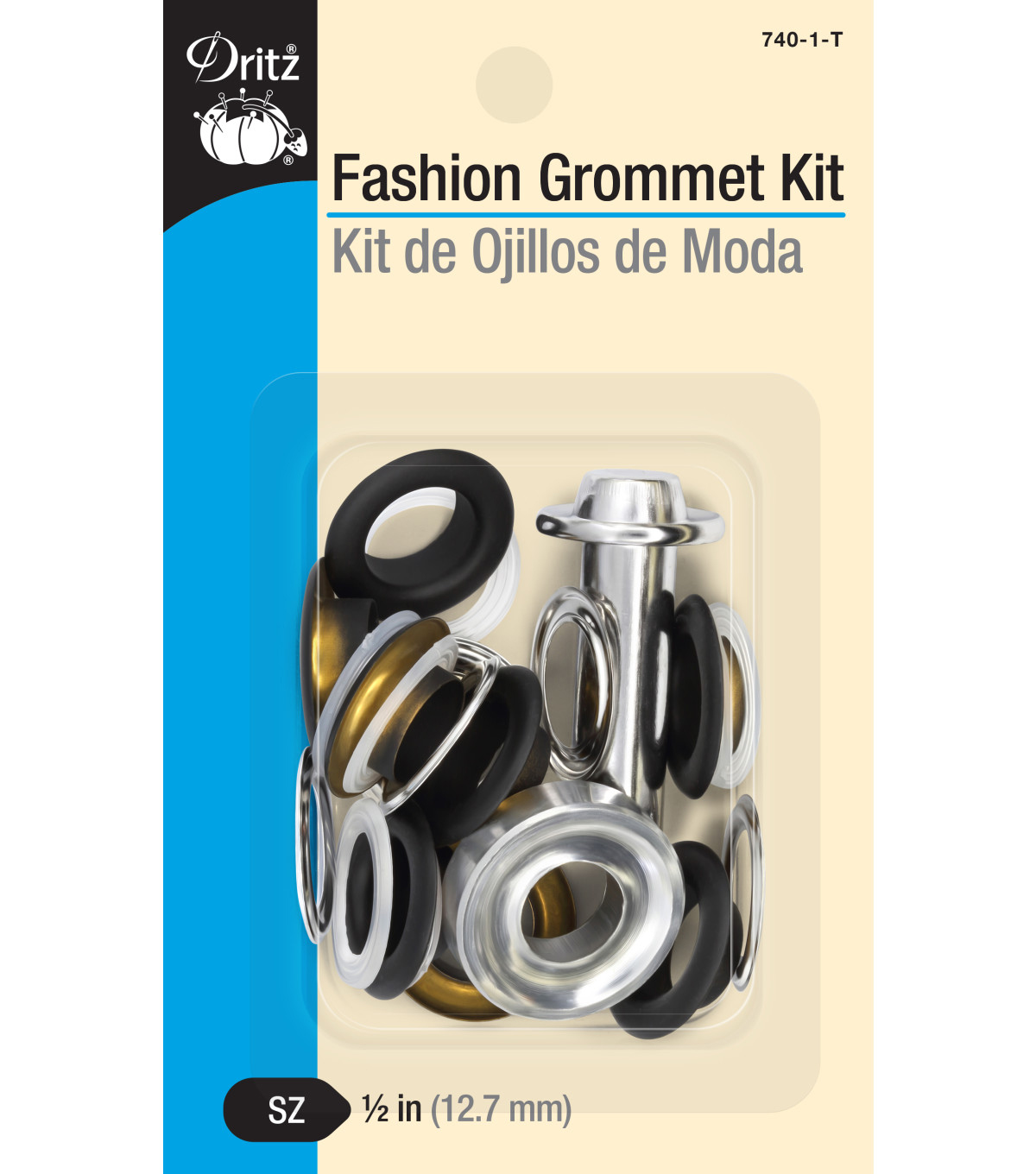 Dritz 1/2\u0022 Fashion Grommet Kit-Black