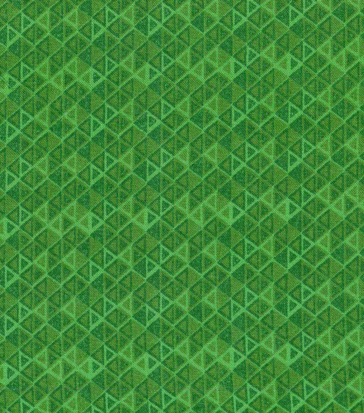 "Keepsake Calico™ Cotton Fabric 43""-Green Packed Triangle Blender"