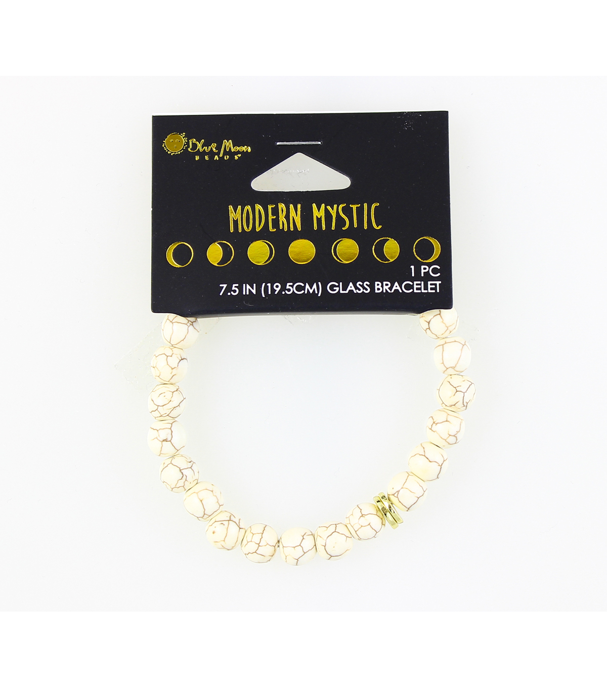 Blue Moon Beads® Modern Mystic Glass Bracelet-Gold & White