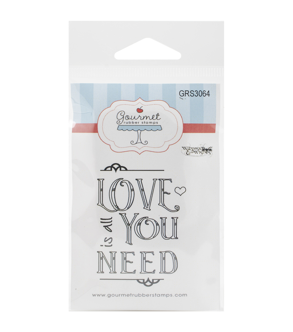 Gourmet Rubber Stamps Love Is All You Need Cling Stamps