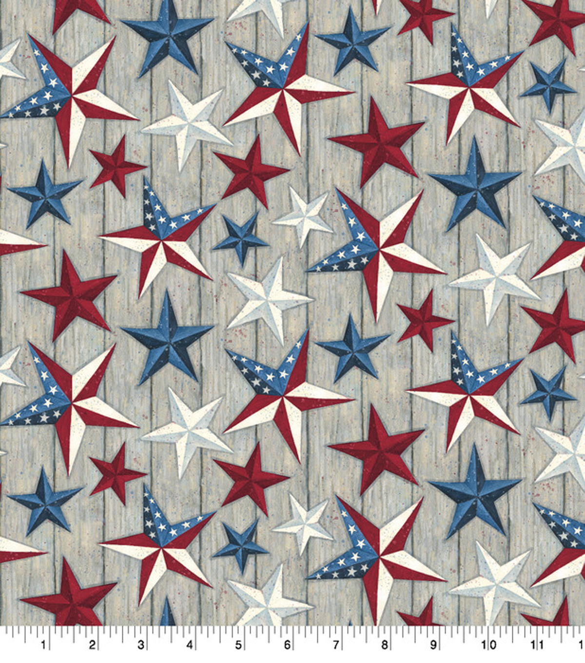 Susan Winget Premium Quilt Patriotic Cotton Fabric 43''-Texas Stars