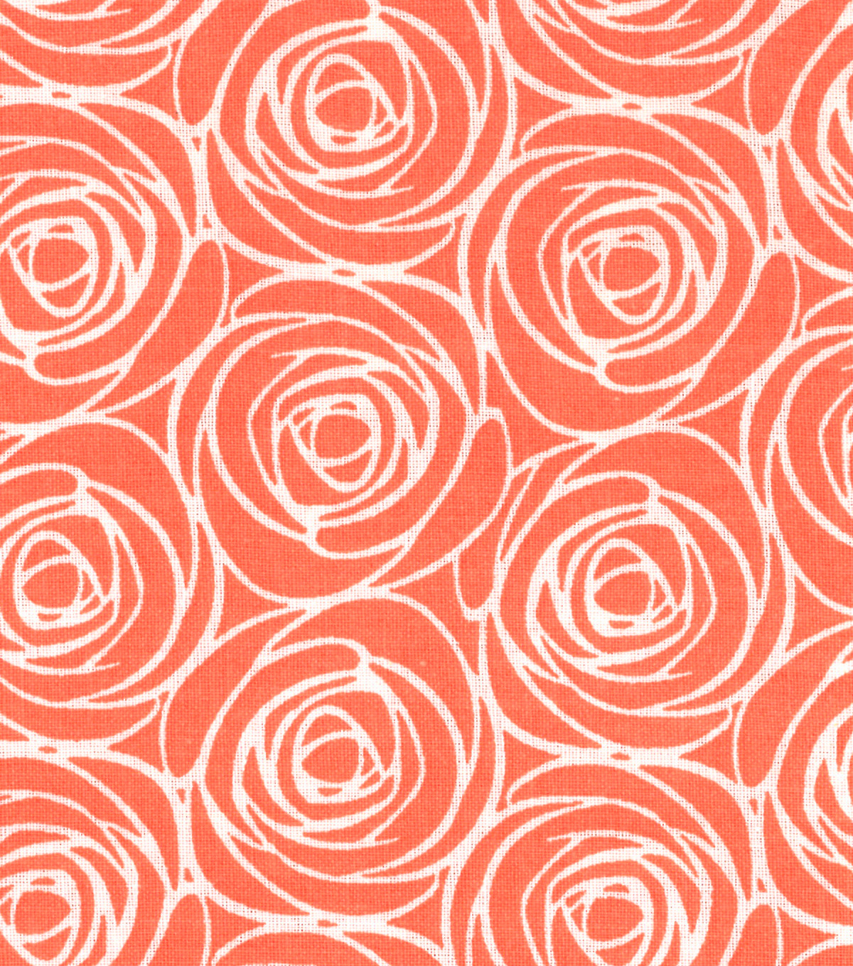 "Quilter's Showcase™ Cotton Fabric 44""-Floral Outline Coral"
