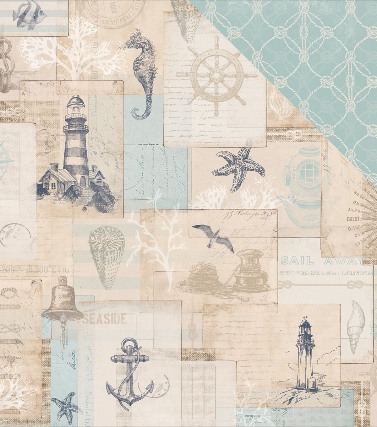 High Tide Double-Sided Cardstock 12\u0022X12\u0022-Ahoy