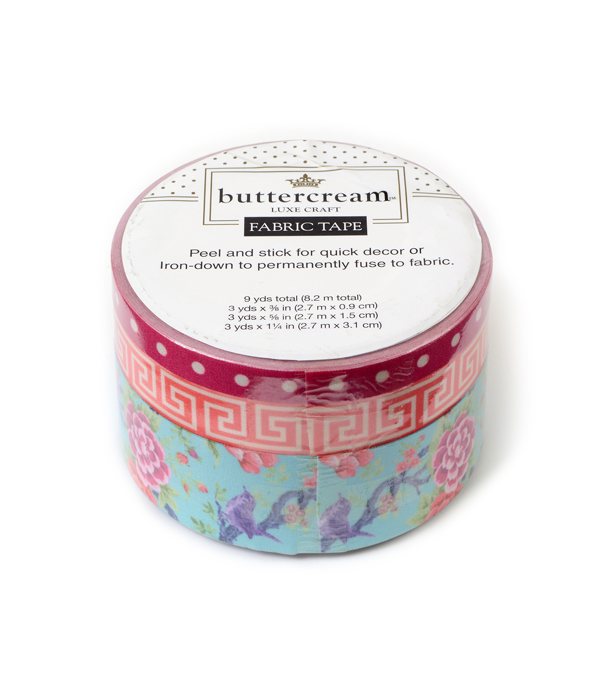 Buttercream™ Olivia Collection Fabric Tape-Bird Floral